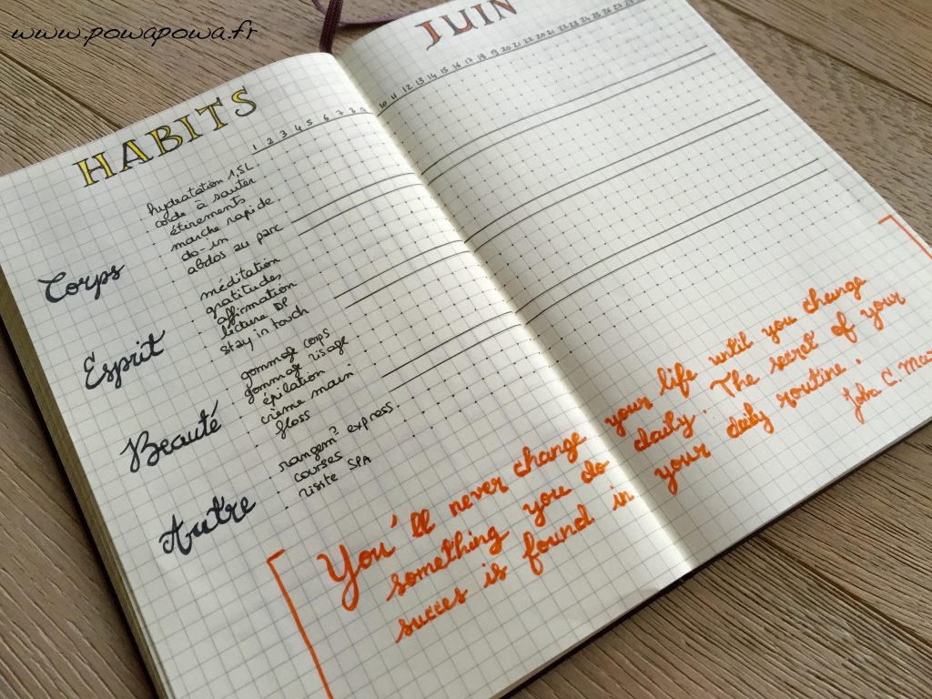 habits tracker juin