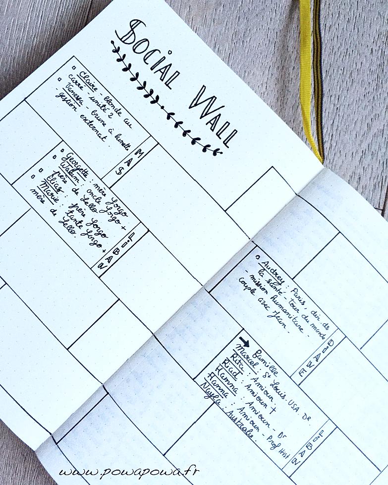 social wall bullet journal
